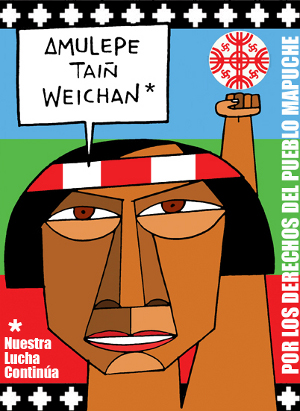 For the rights of the Mapuche people