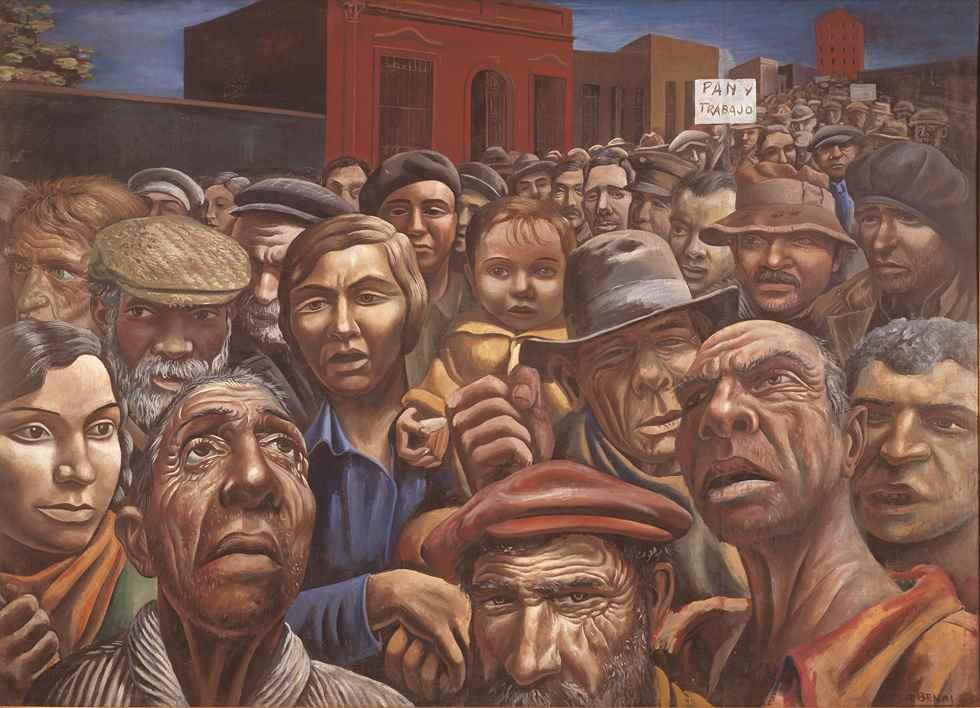 Manifestación (1934), obra de Antonio Berni (Argentina)