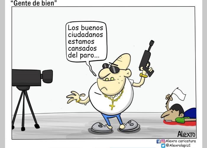 """Caricatura: """"Gente de bien"""" - Las2orillas"""