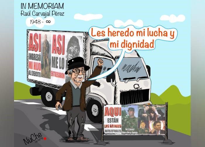 Caricatura: Don Raúl, un héroe en la lucha contra el terror de Estado -  Las2orillas